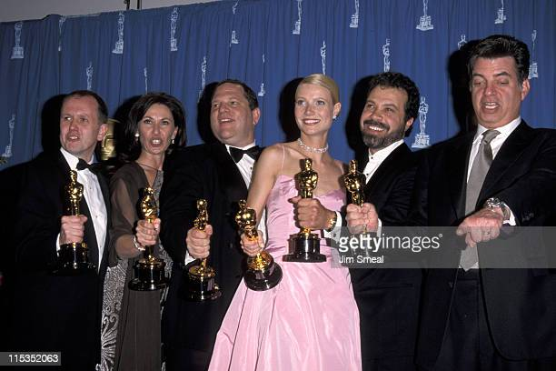 David Parfitt Donna Gigliotti Harvey Weinstein Edward Zwick and Gwyneth Paltrow