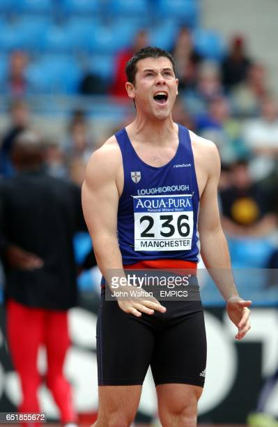 David Parker in action during the men's javelin
