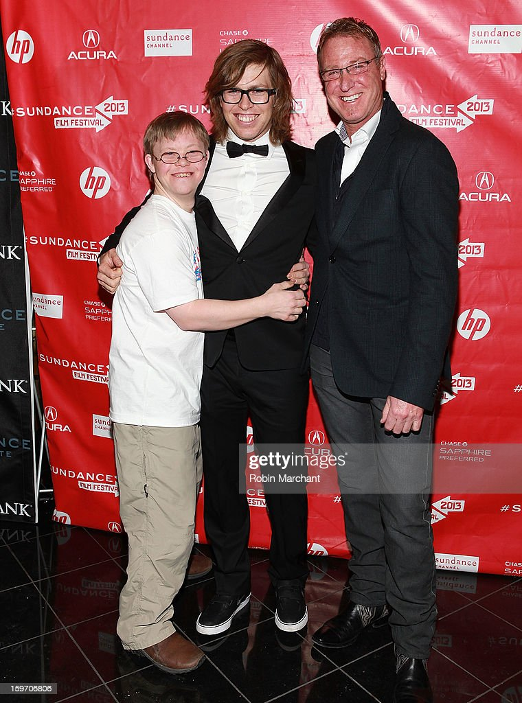 David Pearce, American snowboarder Kevin Pearce and Dr. Alan Weintraub attend 'The Crash Reel' Premiere at Rose Wagner Performing Arts Center on January 18, 2013 in Salt Lake City, Utah.