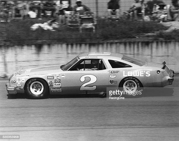 David Pearson driver of the Lowe's Oldsmobile in the Talladega 500 as a replacement driver for injured rookie Dale Earnhardt at the Talladega...