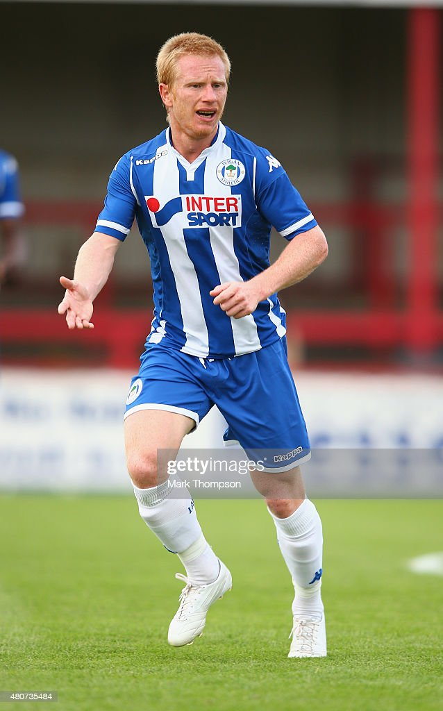 David Perkins of Wigan Athletic in action during the pre season friendly between Altrincham and Wigan Athletic at the J Davidson stadium on July 14...
