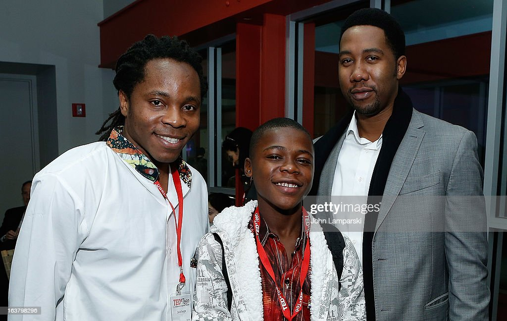 David Pfenghe, Kevin Doe and Nelson Mandela's grandson Ndaba Mandela attend TEDxTeen 2013 at Scholastic Inc. Headquarters on March 16, 2013 in New York City.