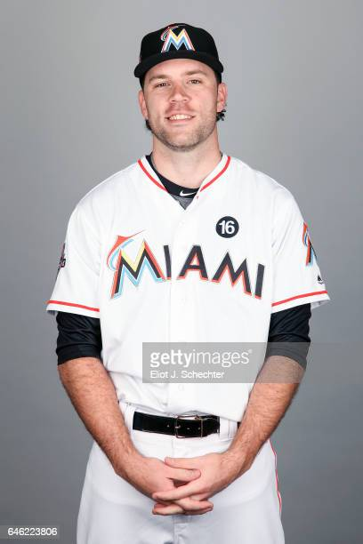 David Phelps of the Miami Marlins poses during Photo Day on Saturday February 18 2017 at Roger Dean Stadium in Jupiter Florida