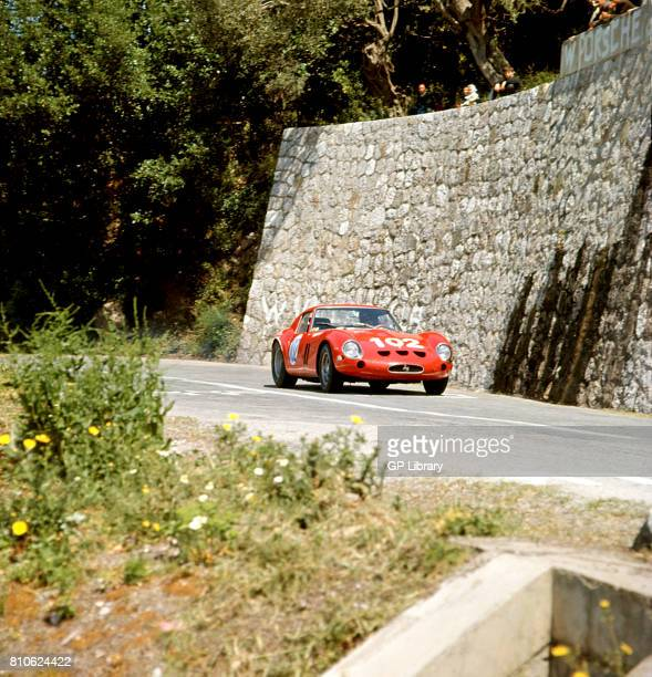 David Piper driving a Ferrari 250GTO at Targa Florio