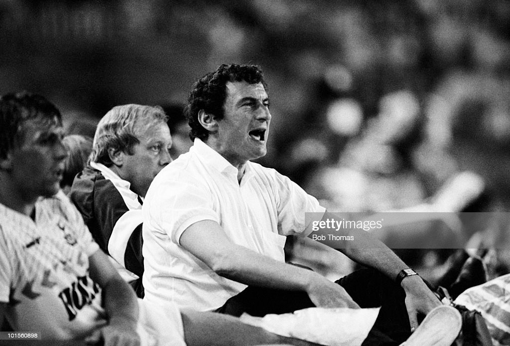 David Pleat, Tottenham Hotspur manager, pictured during the Gamper Tournament held at The Nou Camp Stadium, Barcelona on 19th August 1986. (Bob Thomas/Getty Images).