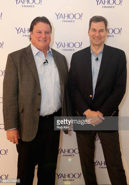 David Pogue and CEO Symantec Greg Clark attend the Yahoo Finance All Markets Summit on February 8 2017 in New York City