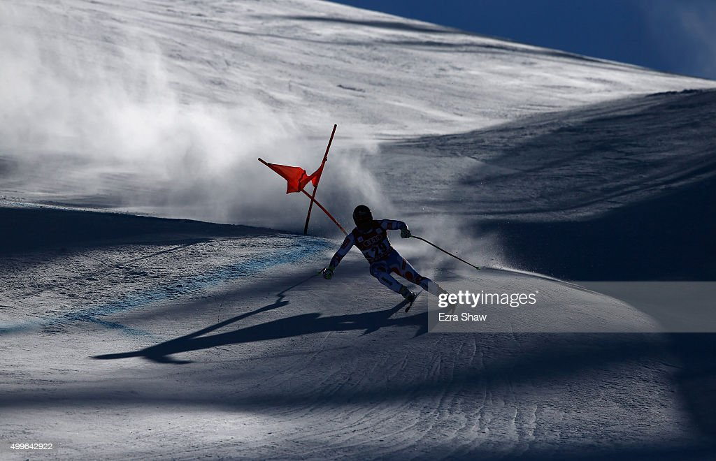 <a gi-track='captionPersonalityLinkClicked' href=/galleries/search?phrase=David+Poisson&family=editorial&specificpeople=2233661 ng-click='$event.stopPropagation()'>David Poisson</a> of France competes during downhill training for the Audi FIS Ski World Cup on the Birds of Prey on December 2, 2015 in Beaver Creek, Colorado.