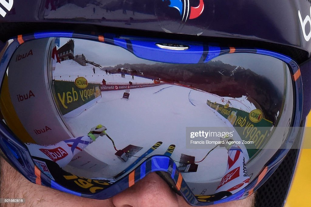 <a gi-track='captionPersonalityLinkClicked' href=/galleries/search?phrase=David+Poisson&family=editorial&specificpeople=2233661 ng-click='$event.stopPropagation()'>David Poisson</a> of France competes during the Audi FIS Alpine Ski World Cup Men's Downhill Training on December 16, 2015 in Val Gardena, Italy.