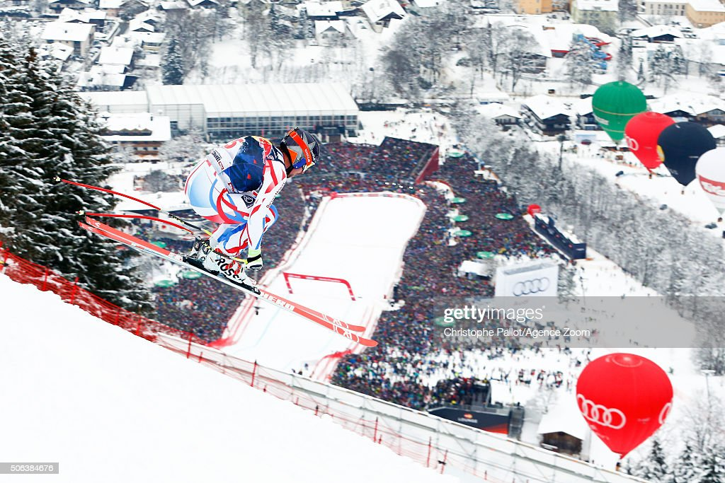 <a gi-track='captionPersonalityLinkClicked' href=/galleries/search?phrase=David+Poisson&family=editorial&specificpeople=2233661 ng-click='$event.stopPropagation()'>David Poisson</a> of France competes during the Audi FIS Alpine Ski World Cup Men's Downhill on January 23, 2016 in Kitzbuehel, Austria.