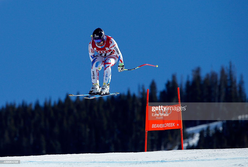 <a gi-track='captionPersonalityLinkClicked' href=/galleries/search?phrase=David+Poisson&family=editorial&specificpeople=2233661 ng-click='$event.stopPropagation()'>David Poisson</a> of France goes over the Red Tail jump during the Audi FIS Ski World Cup downhill race on the Birds of Prey on December 4, 2015 in Beaver Creek, Colorado.