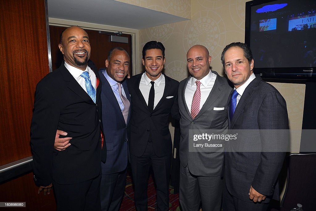 David Porter, Dane Snowden, <a gi-track='captionPersonalityLinkClicked' href=/galleries/search?phrase=Mario+Lopez&family=editorial&specificpeople=235992 ng-click='$event.stopPropagation()'>Mario Lopez</a> and Michael Powell attend the 30th Annual Walter Kaitz Foundation Fundraising Dinner at The New York Marriott Marquis on October 9, 2013 in New York City.