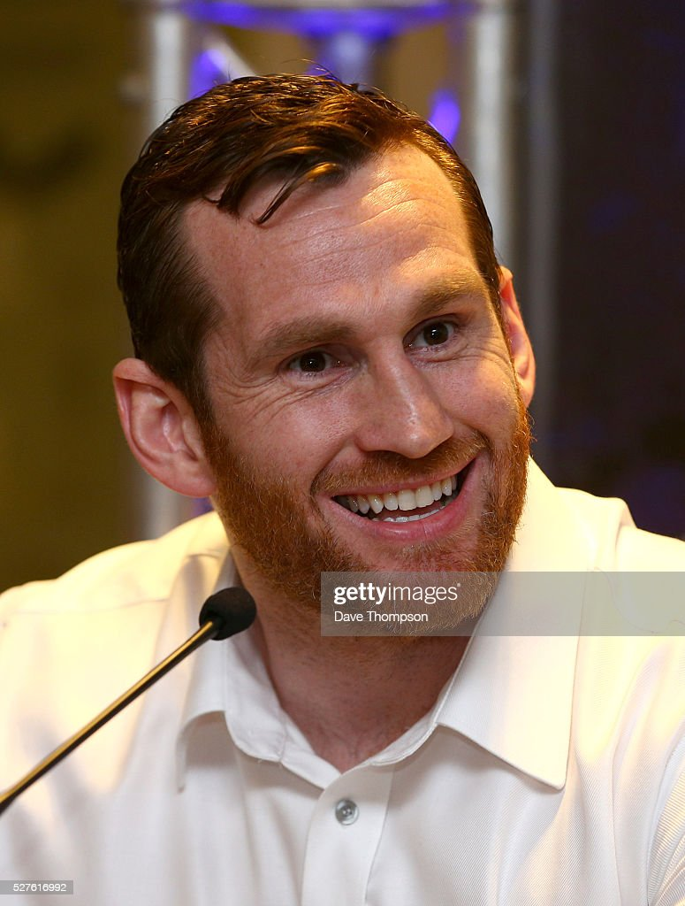 David Price during a press conference at Goodison Park on May 3, 2016 in Liverpool, England. Price will fight on the undercard of Tony Bellew against Ilunga Makabu on May 29 at the home of Everton Football Club.