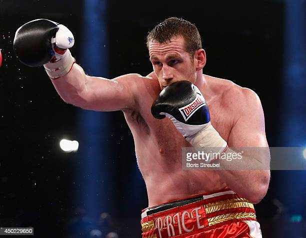 David Price of Great Britain in action during his heavyweight fight against Yaroslav Zavorotnyi of Ukraine at Sport und Kongresshalle on June 7 2014...