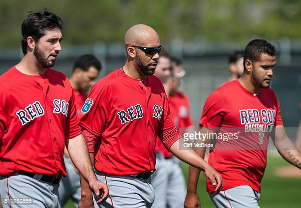 David Price of the Boston Red Sox participates in a spring training workout at Fenway South on February 19 2016 in Ft Myers Florida