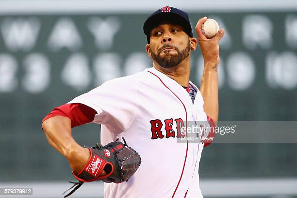 David Price of the Boston Red Sox pitches against the Minnesota Twins during the first inning at Fenway Park on July 23 2016 in Boston Massachusetts