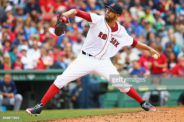 David Price of the Boston Red Sox pitches against the Tampa Bay Rays during the fourth inning at Fenway Park on July 10 2016 in Boston Massachusetts