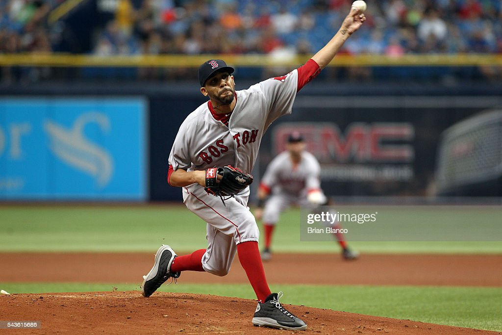 <a gi-track='captionPersonalityLinkClicked' href=/galleries/search?phrase=David+Price+-+Baseball+Player&family=editorial&specificpeople=4961936 ng-click='$event.stopPropagation()'>David Price</a> #24 of the Boston Red Sox pitches during the first inning of a game against the Tampa Bay Rays on June 29, 2016 at Tropicana Field in St. Petersburg, Florida.