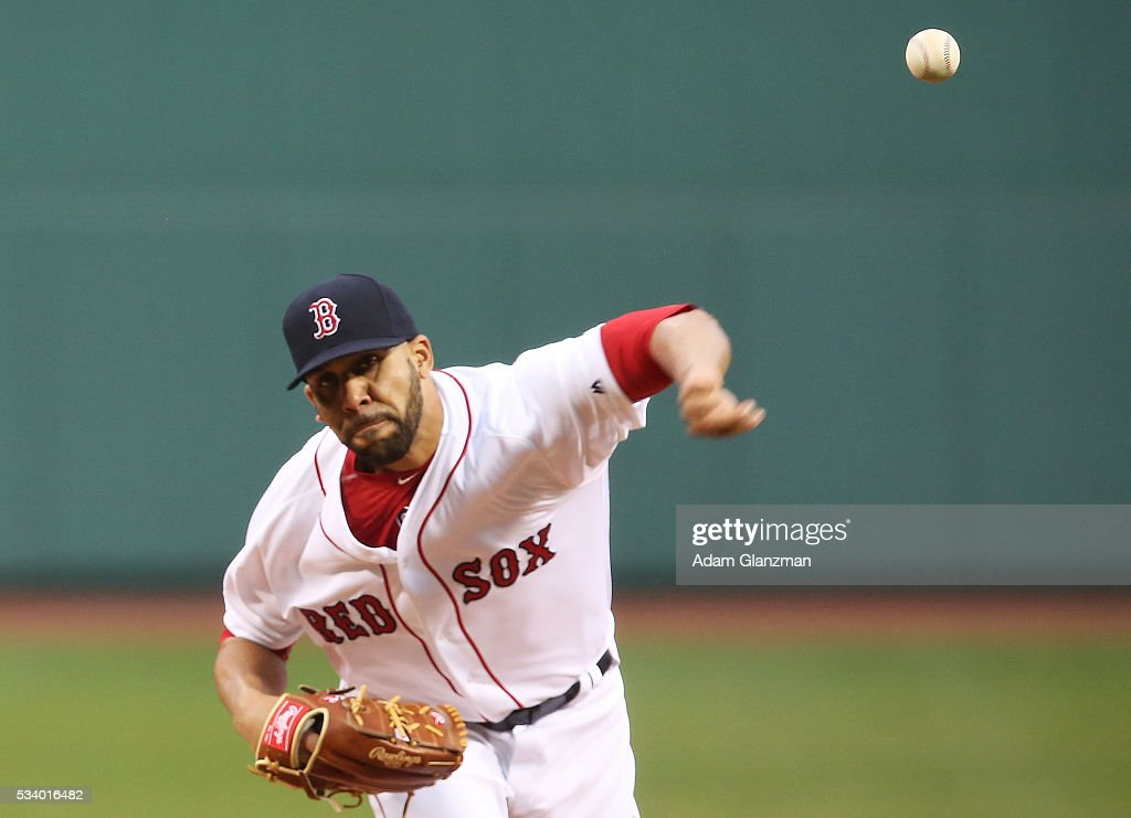 <a gi-track='captionPersonalityLinkClicked' href=/galleries/search?phrase=David+Price+-+Baseball&family=editorial&specificpeople=4961936 ng-click='$event.stopPropagation()'>David Price</a> #24 of the Boston Red Sox pitches in the first inning during the game against the Colorado Rockies at Fenway Park on May 24, 2016 in Boston, Massachusetts.