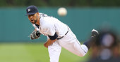 David Price of the Detroit Tigers warms up prior to the start of the first innng of the game against the Seattle Mariners at Comerica Park on August...