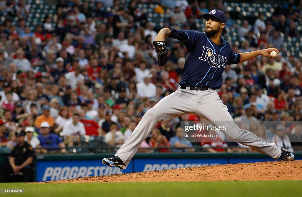 <a gi-track='captionPersonalityLinkClicked' href=/galleries/search?phrase=David+Price+-+Baseball+Player&family=editorial&specificpeople=4961936 ng-click='$event.stopPropagation()'>David Price</a> #14 of the Tampa Bay Rays pitches against the Cleveland Indians during the game on May 11, 2011 at Progressive Field in Cleveland, Ohio.