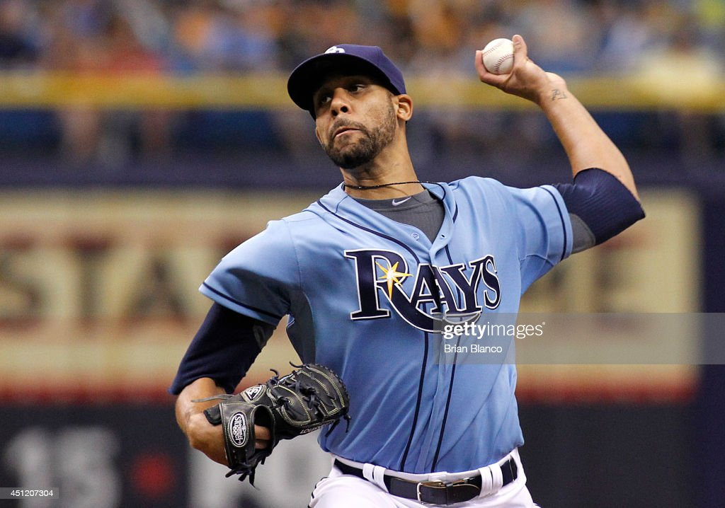 <a gi-track='captionPersonalityLinkClicked' href=/galleries/search?phrase=David+Price+-+Baseball+Player&family=editorial&specificpeople=4961936 ng-click='$event.stopPropagation()'>David Price</a> #14 of the Tampa Bay Rays pitches during the first inning of a game against the Pittsburgh Pirates on June 25, 2014 at Tropicana Field in St. Petersburg, Florida.