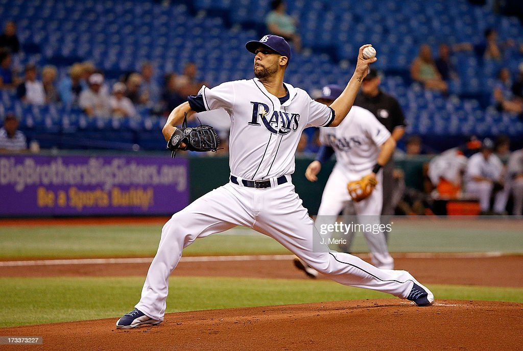 <a gi-track='captionPersonalityLinkClicked' href=/galleries/search?phrase=David+Price+-+Baseball+Player&family=editorial&specificpeople=4961936 ng-click='$event.stopPropagation()'>David Price</a> #14 of the Tampa Bay Rays pitches in the first inning against the Houston Astros during the game at Tropicana Field on July 12, 2013 in St. Petersburg, Florida.