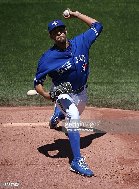 David Price of the Toronto Blue Jays delivers a pitch in the first inning during MLB game action against the Minnesota Twins on August 3 2015 at...
