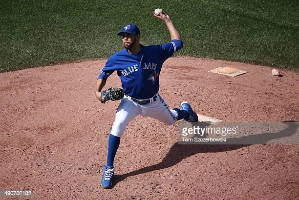 David Price of the Toronto Blue Jays delivers a pitch in the third inning during MLB game action against the Tampa Bay Rays on September 26 2015 at...