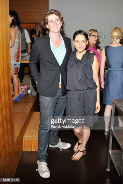 David Prior and Cerise Mayo attend EDIBLE SCHOOLYARD NEW YORK Summer Solstice Dinner Hosted by LELA ROSE and ALICE WATERS at Home of Lela Rose and...