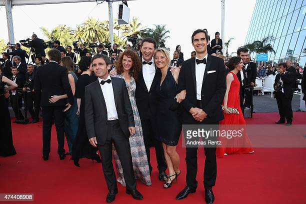 David Pujadas and guests attend the Premiere of 'The Little Prince' during the 68th annual Cannes Film Festival on May 22 2015 in Cannes France