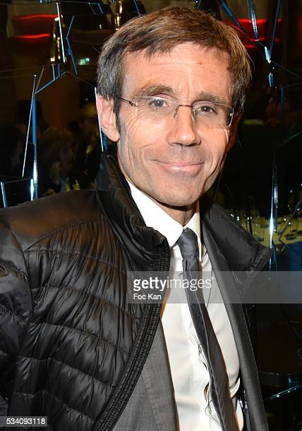 David Pujadas attends Atlantico 5th Anniversary at Cafe Campana in Musee D'Orsay on May 24 2016 in Paris France
