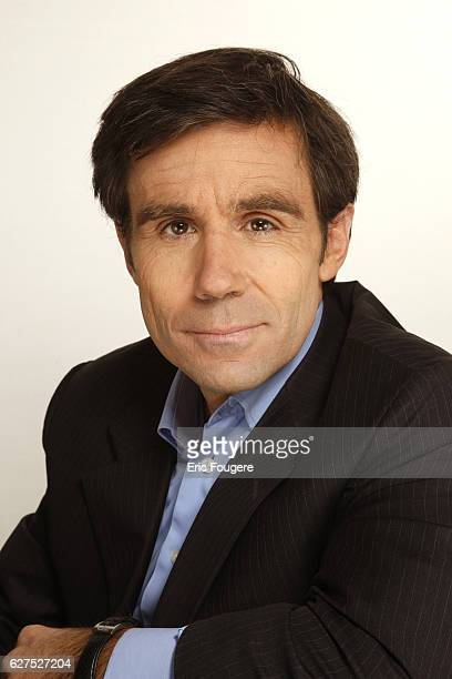 David Pujadas on the set of TV show 'On en Parle a Paris'