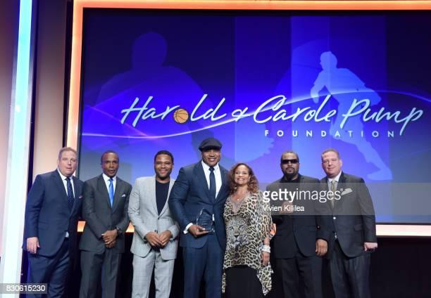 David Pump Sugar Ray Leonard Anthony Anderson LL Cool J Debbie Allen Ice Cube and Dana Pump attend the 17th Annual Harold Carole Pump Foundation Gala...