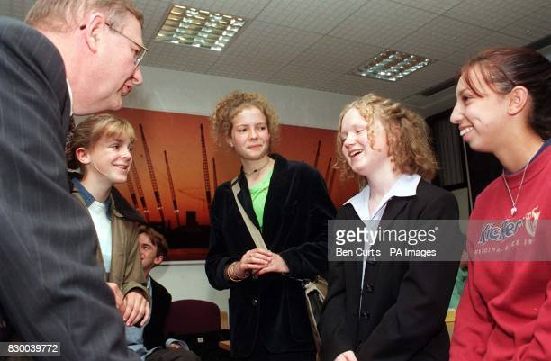 David Quarmby Chairman of the British Tourist Authority meets teenagers during the first meeting of the UK Millennium Youth Council in London today...