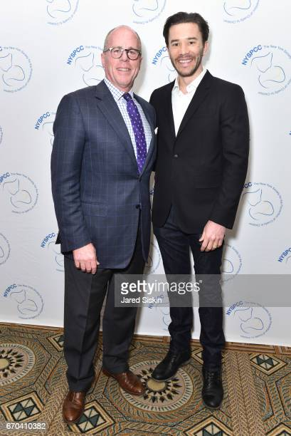 David R Stack and Tom Pelphrey attend New York Society for the Prevention of Cruelty to Children 2017 Spring Luncheon at The Pierre Hotel on April 19...