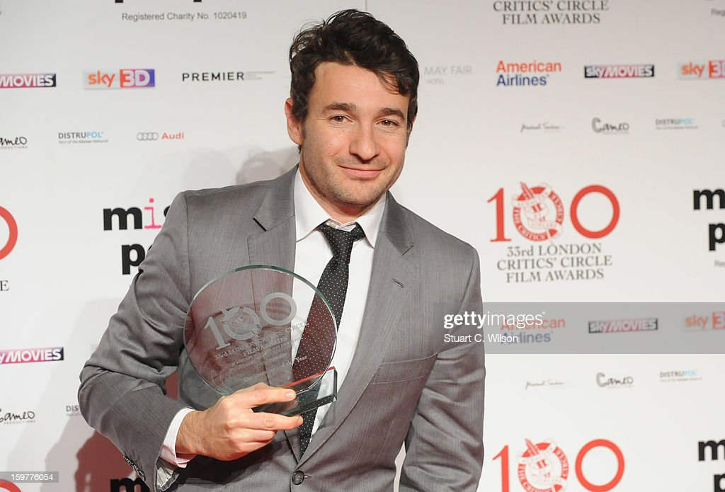 David Raedeker poses in the press room at the London Critics' Circle Film Awards at The Mayfair Hotel on January 20, 2013 in London, England.