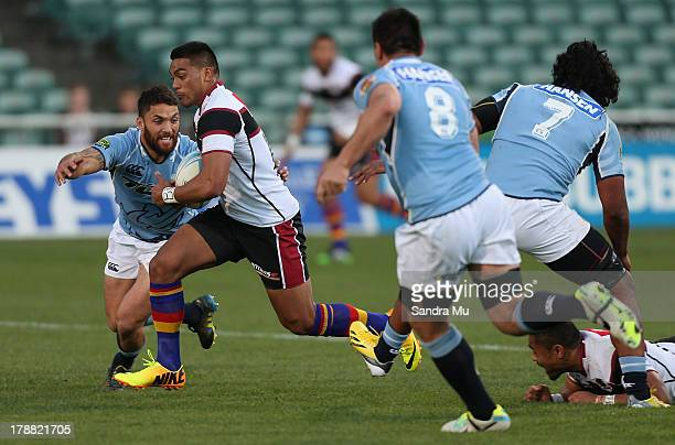 David Raikuna of North Harbour in action during the round three ITM Cup match between North Harbour and Northland at North Harbour Stadium on August...