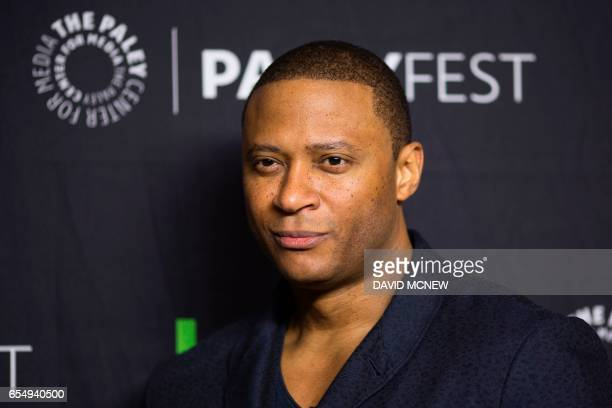 David Ramsey attends PaleyFest LA at the Dolby Theatre on March 18 2017 in the Hollywood section of Los Angeles California / AFP PHOTO / DAVID MCNEW
