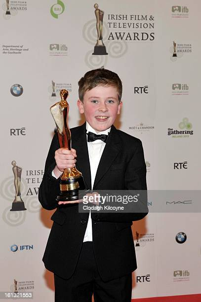 David Rawle poses in the Press Room at the Irish Film and Television Awards at Convention Centre Dublin on February 9 2013 in Dublin Ireland