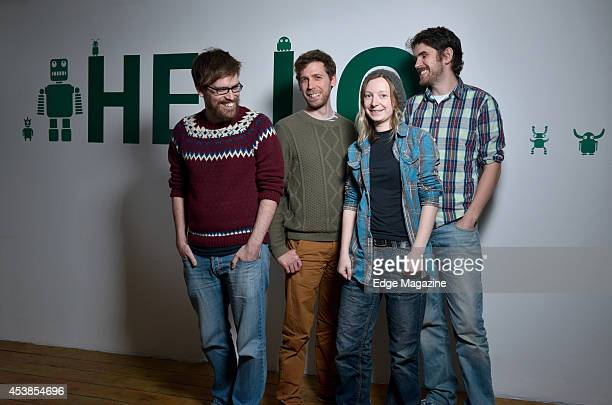 David Ream Grant Duncan Hazel McKendrick and Sean Murray of English video games developer Hello Games photographed at their studio in Guildford on...