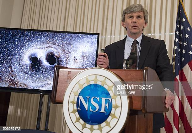 David Reitze executive director of the LIGO Laboratory at Caltech announces that scientists have observed ripples in the fabric of spacetime called...