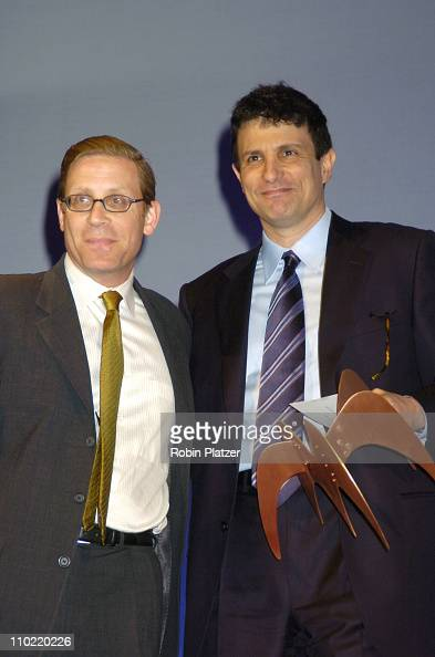 David Remnick and guest during The 2005 National Magazine Awards at The Waldorf Astoria Hotel in New York City New York United States