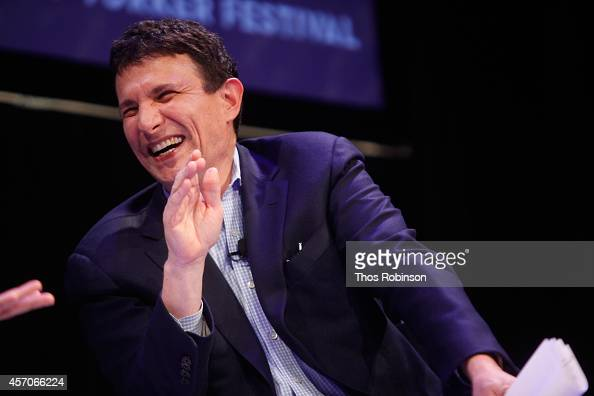 David Remnick participates in a conversation with Larry David during the New Yorker Festival on October 11 2014 in New York City