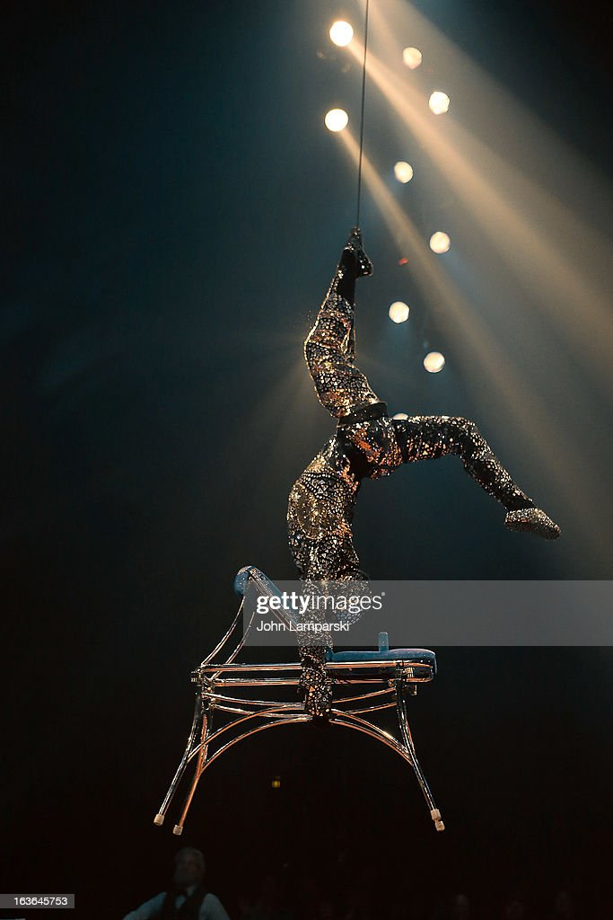 David Resnick performs at the 'Cirque Du Soleil's Totem' Dress Rehearsal at Citi Field on March 13 2013 in New York City