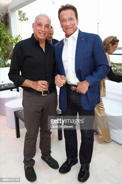 David Reuben and Arnold Schwarzenegger attend a dinner hosted by Jamie Reuben Michael Kives with Arnold Schwarzenegger to celebrate JeanMichel...