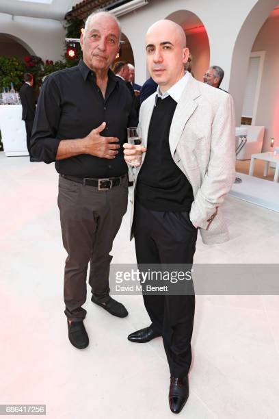 David Reuben and guest attend a dinner hosted by Jamie Reuben Michael Kives with Arnold Schwarzenegger to celebrate JeanMichel Cousteau's 'Wonders Of...