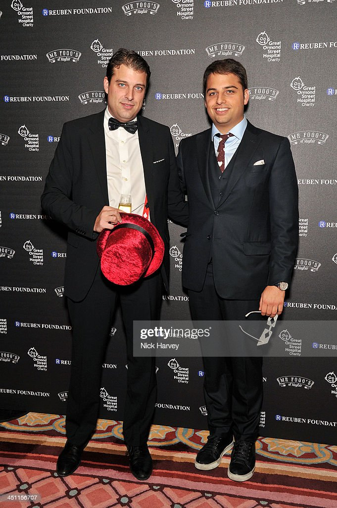 David Reuben Jr and Jamie Reuben attend the Reuben Foundation Adventure in Wonderland party in aid of Great Ormond Street Hospital on November 21...
