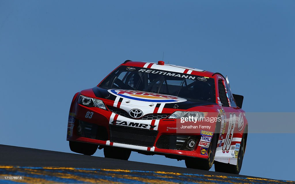 David Reutimann, driver of the #83 Burger King/Dr Pepper Toyota, drives during practice for the NASCAR Sprint Cup Series Toyota/Save Mart 350 at Sonoma Raceway on June 21, 2013 in Sonoma, California.