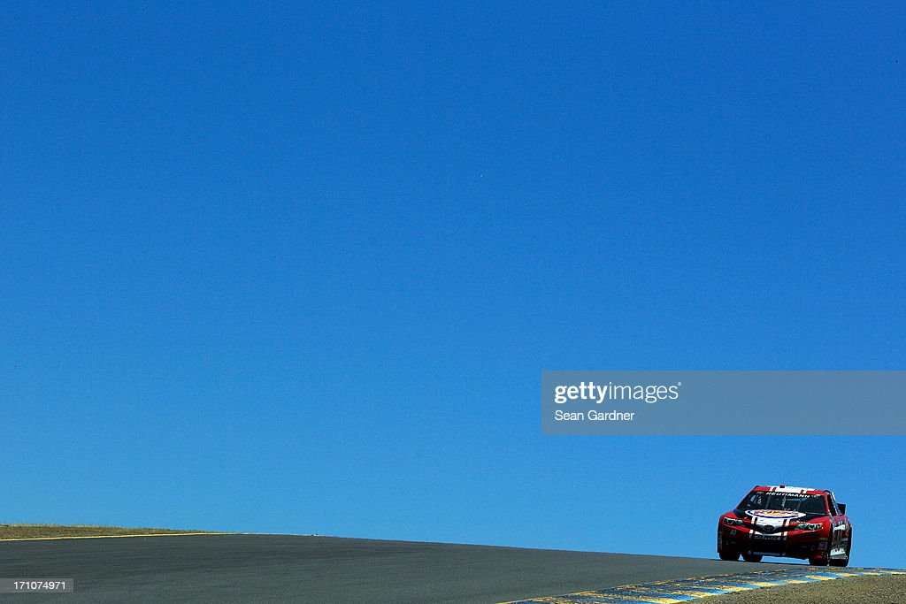 David Reutimann, driver of the #83 Burger King/Dr Pepper Toyota, during practice for the NASCAR Sprint Cup Series Toyota/Save Mart 350 at Sonoma Raceway on June 21, 2013 in Sonoma, California.