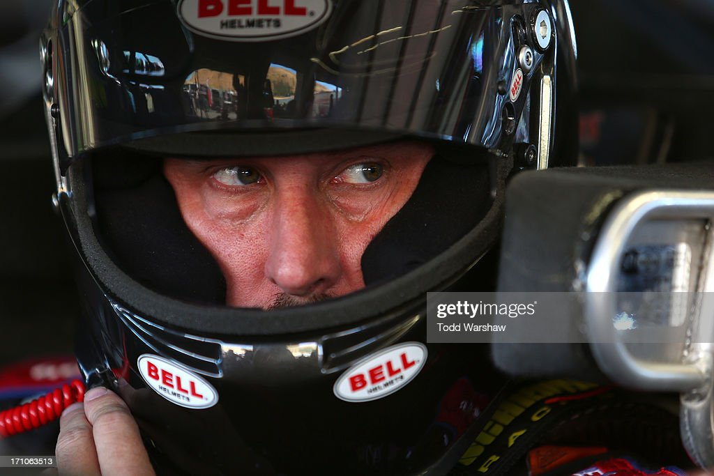 David Reutimann, driver of the #83 Burger King/Dr Pepper Toyota, prepares to drive during practice for the NASCAR Sprint Cup Series Toyota/Save Mart 350 at Sonoma Raceway on June 21, 2013 in Sonoma, California.